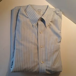 Brooks Brothers 17-34 slim fit non iron long sleev